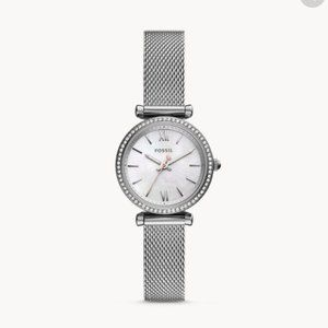 Fossil - Carly Stainless Steel Mesh Watch